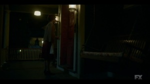The Land of Taking and Killing- Oraetta leaves her pie at the front door- Fargo, FX
