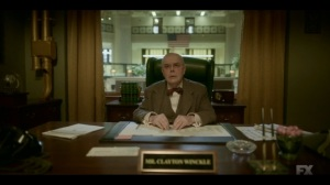 Welcome to the Alternate Economy- Clayton Winckle, played by William Dicke, asks why Loy and Doctor need his help- Fargo, FX