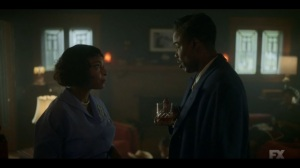 Welcome to the Alternate Economy- Loy tells his wife, Buel, played by J. Nicole Brooks, about Satchel's status- Fargo, FX