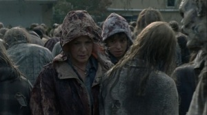 A Certain Doom- Carol and Beatrice move through the horde- AMC, The Walking Dead