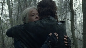 A Certain Doom- Carol and Daryl hug- AMC, The Walking Dead