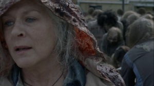 A Certain Doom- Carol leaves as Beatrice is eaten by walkers- AMC, The Walking Dead