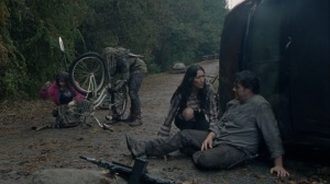 A Certain Doom- Eugene falls off of his bicycle- AMC, The Walking Dead