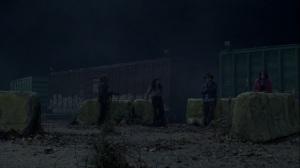 A Certain Doom- Eugene, Yumiko, Ezekiel, and Princess wait at the train yard- AMC, The Walking Dead