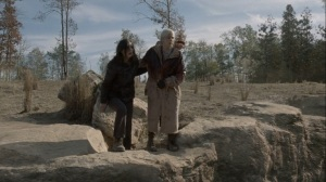 A Certain Doom- Lydia and Carol at the cliff- AMC, The Walking Dead