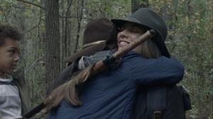 A Certain Doom- Maggie hugs Judith- AMC, The Walking Dead