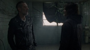 A Certain Doom- Negan tells Daryl that he's not going into the horde- AMC, The Walking Dead