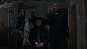 A Certain Doom- Rachel, Judith, and Gabriel watch the Whisperers break through the barricade- AMC, The Walking Dead