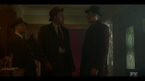 Camp Elegance- Calamita tells Odis that they're at war with the Cannons- Fargo, FX