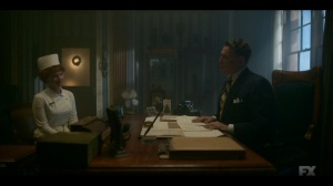 Camp Elegance- Dr. Harvard reads Oraetta an anonymous letter- Fargo, FX