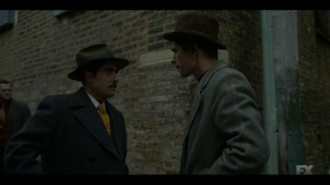 Camp Elegance- Josto tells Rabbi Milligan that Satchel is done- Fargo, FX
