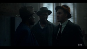 Camp Elegance- Loy tells Odis to bring Satchel to him- Fargo, FX