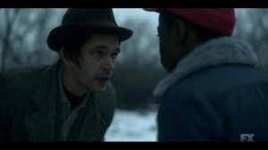 Camp Elegance- Rabbi Milligan tells Satchel that they're going somewhere quiet- Fargo, FX