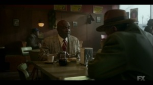Raddoppiarlo- Doctor Senator and Ebal discuss the slaughterhouse deal- Fargo, FX