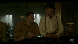 Raddoppiarlo- Gaetano asks Constant Calamita, played by Gaetano Bruno, if he wants to shoot someone- Fargo, FX