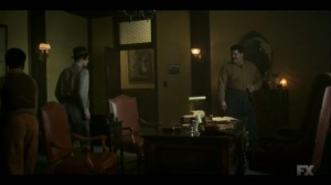 Raddoppiarlo- Gaetano asks Rabbi Milligan what it was like to kill his own father- Fargo, FX