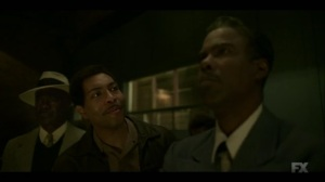 Raddoppiarlo- Loy tells Leon to drive Lemuel and pal up to him to keep him out of trouble- Fargo, FX