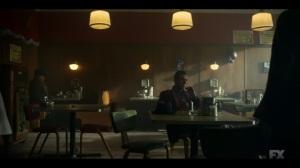The Birthplace of Civilization- Doctor Senator finds Gaetano and Calamita at the diner- FX, Fargo