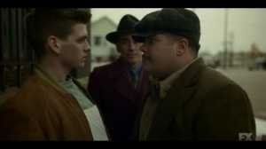 The Birthplace of Civilization- Gaetano threatens a kid who laughed at him- FX, Fargo