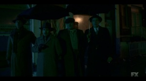 The Birthplace of Civilization- Josto and the Italians watch as Lemuel and Leon are arrested- FX, Fargo