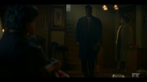 The Birthplace of Civilization- Loy reminds his wife and mother that he fights for the entire family- FX, Fargo