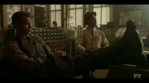 The Pretend War- Deafy and Weff question a witness- Fargo, FX