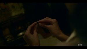 The Pretend War- Ethelrida holds Donatello's ring- Fargo, FX