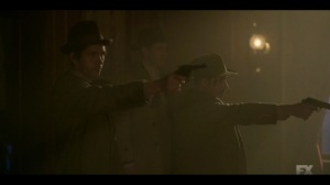 The Pretend War- Josto and Rabbi Milligan storm in on Gaetano's meeting- Fargo, FX