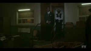 The Pretend War- Loy tells Doctor Senator to sell some of the guns to Mort Kellerman in Fargo- Fargo, FX