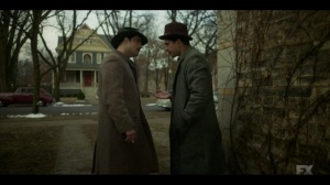 The Pretend War- Rabbi Milligan tells Josto about the botched hit- Fargo, FX