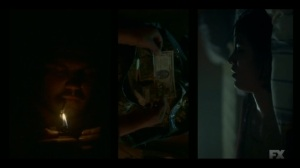The Pretend War- Zelmare cleans money while Swanee rests- Fargo, FX