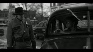 East West- Officer asks Satchel if the car belongs to him- Fargo, FX