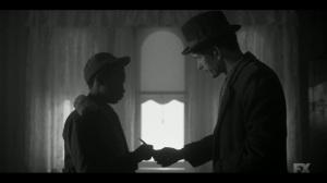 East West- Rabbi Milligan gives Satchel a blade- Fargo, FX