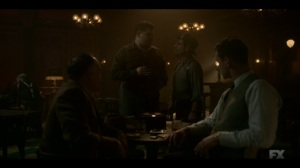 Happy- Ebal informs Josto and Gaetano that New York wants this war wrapped up soon- Fargo, FX