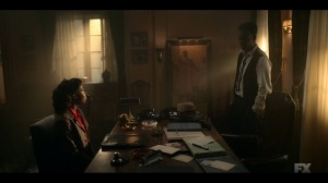 Happy- Ethelrida recognizes the painting in Loy's office- Fargo, FX