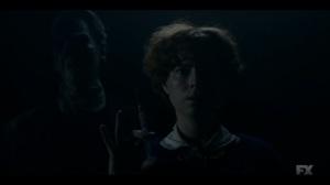 Happy- Ghost of Theodore Roach appears behind Oraetta- Fargo, FX