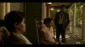 Happy- Lemuel informs Dibrell and Ethelrida that he's helping keep guard for awhile- Fargo, FX