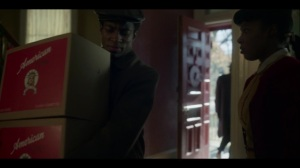 Lay Away- Ethelrida sees some men bringing boxes into her home- Fargo, FX