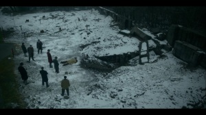 Lay Away- Fadda family looks over Antoon's dead body- Fargo, FX