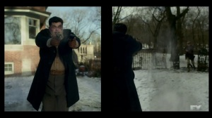 The Nadir- Gaetano opens fire on the Fargo crime syndicate- Fargo, FX