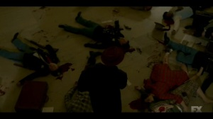 The Nadir- Odis steps over bodies at the train station- Fargo, FX