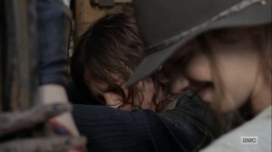 Home, Sweet Home- Daryl and Maggie force a shipping container door shut- AMC, The Walking Dead