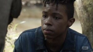 Home, Sweet Home- Kelly calms Elijah down- AMC, The Walking Dead