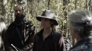 Home, Sweet Home- Maggie introduces Elijah, played by Okea Eme-Akwari, and Cole, played by James Devoti, to Carol and Daryl, AMC, The Walking Dead