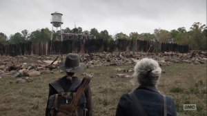 Home, Sweet Home- Maggie sees the burned remains of Hilltop- AMC, The Walking Dead