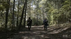 Diverged- Carol and Daryl approach a fork in the road- AMC, The Walking Dead