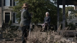 Diverged- Carol asks Jerry if there's any work she can help out with- AMC, The Walking Dead