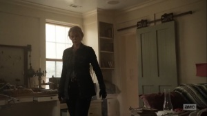 Diverged- Carol finds Dog ripping shit up- AMC, The Walking Dead