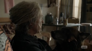 Diverged- Carol tells Dog that she didn't need an apology from Daryl- AMC, The Walking Dead