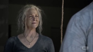 Diverged- Carol tells Jerry that she had a bad day yesterday- AMC, The Walking Dead